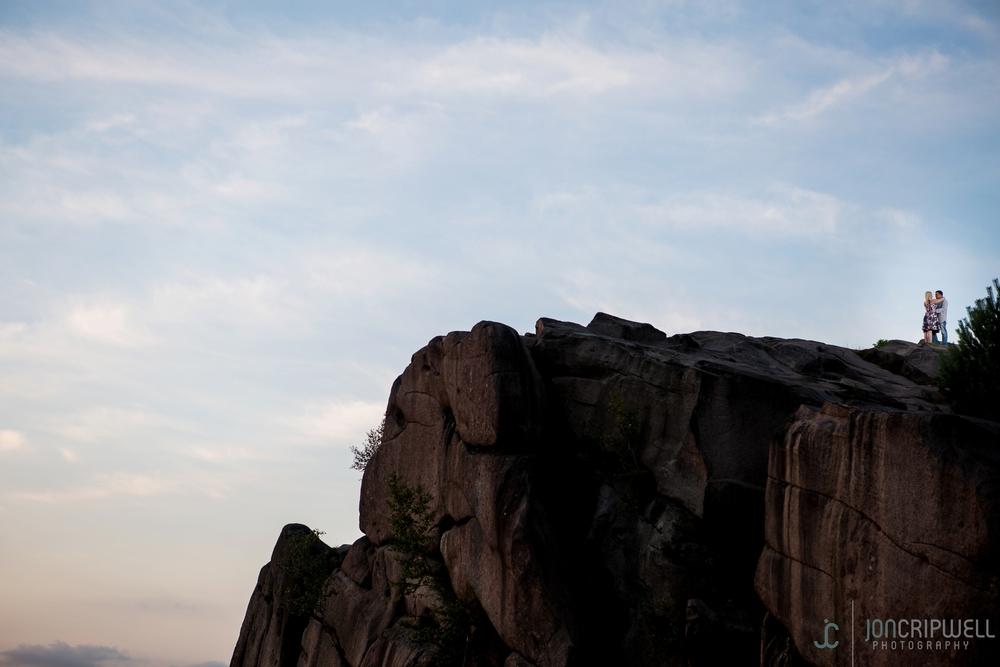 Black Rocks engagement shoot Derbyshire at sunset