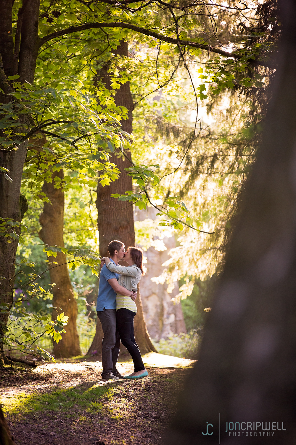 A woodland engagement shoot in Derby
