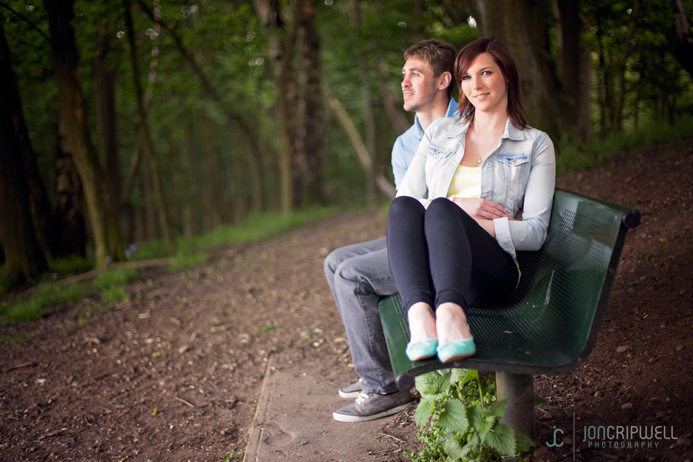 Kate and Jon's pre-wedding shoot Allestree Park