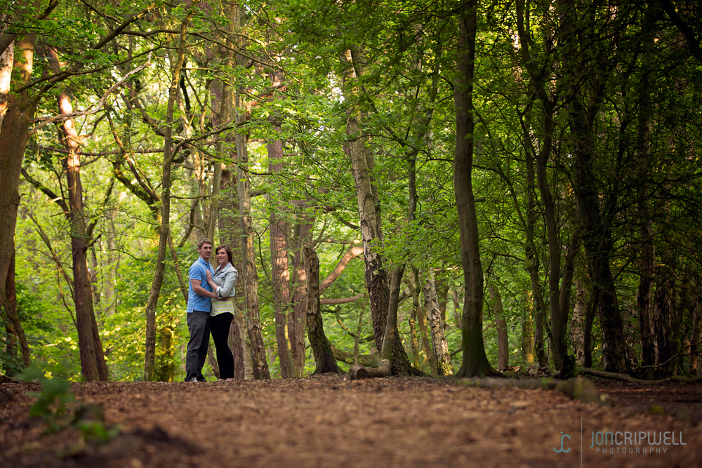 A pre-wedding shoot at Allestree Park in Derby