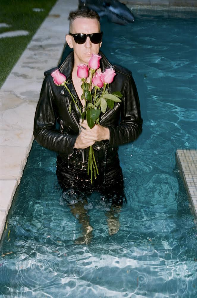 I must admit that it was all a bit surreal to have Jeremy Scott swimming around my pool with his leather jacket on and holding those lovely roses. It was a shoot for  Dazed  and at one point during the session around my house, Jeremy came up with the idea of taking a swim. After the shoot, we sat around the dinner table speaking about pop culture and life. It was very memorable.