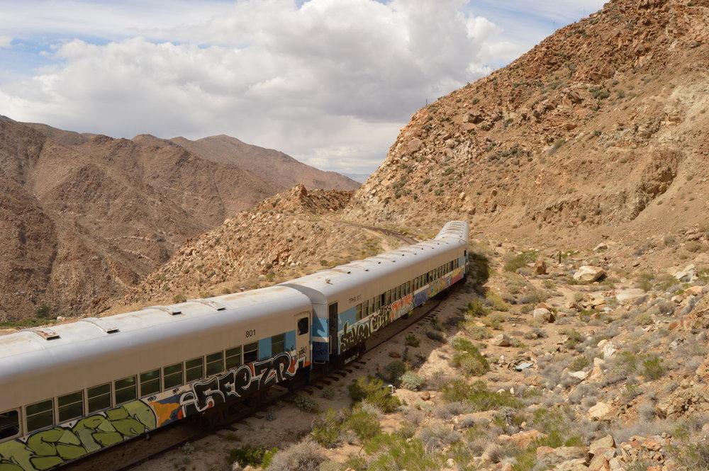 Train abandoned near the Mexican border. Photo:Joshua Stephens