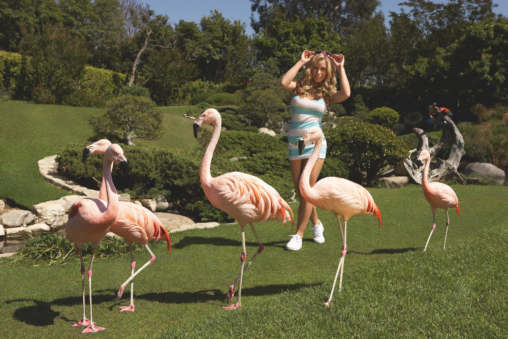 "Kendra Wilkinson. ""Alice's American Safari,"" Pop magazine. Playboy Mansion, Beverly Hills, USA 2007."