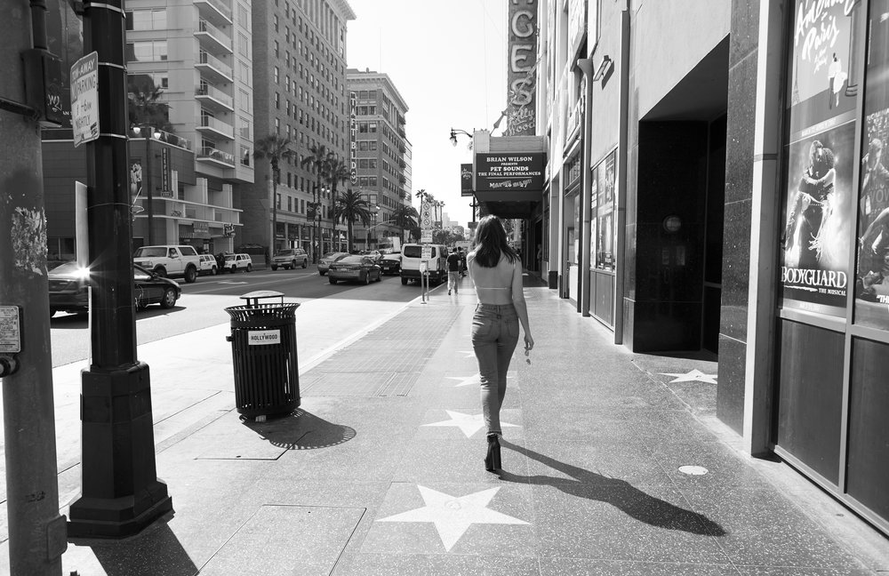 Dua on Hollywood Boulevard