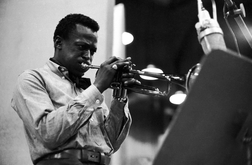 Miles Davis. The trumpeter was credited by many critics with broadening the appeal of modern jazz more than any other performer of his era. Photo: Don Hunstein ©Sony BMG.