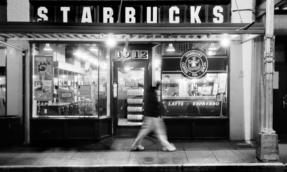 No 1912 Pike Place, Seattle, is actually the second location of the 'original' Starbucks cafe. Photo:  The Guardian .