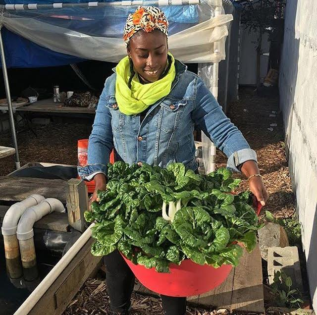 Nigerian-born, Queens-based founder of Oko Farms, Yemi Amu. Photo:  Food Without Borders .