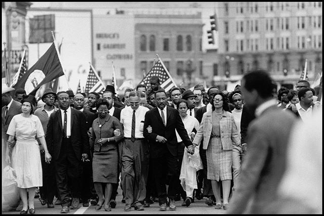 """Our lives begin to end the day we become silent about things that matter."" - Martin Luther King, Jr. #MLKDay  Photography by @brucedavidsonphoto, 1965."