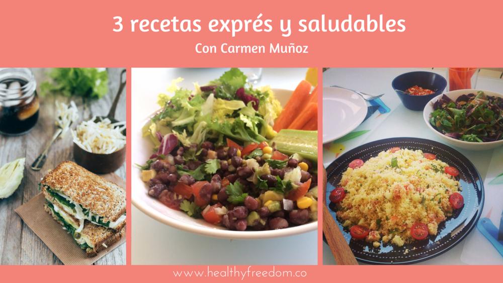 3 recetas exprés y saludables para emprendedoras ocupadas healthy