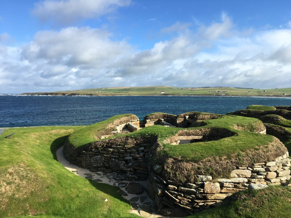 Stone Age | The Neolithic site of Skara Brae. Nestled in the ground, a settlement occupied some 5,000 years ago.