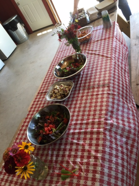 The tables is set for mindful eating at Waverly Farms