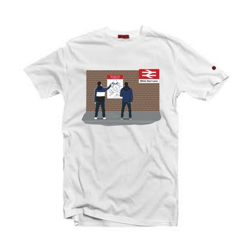 Spurs  Tottenham T-Shirt   White — 80s Casuals 509d08381