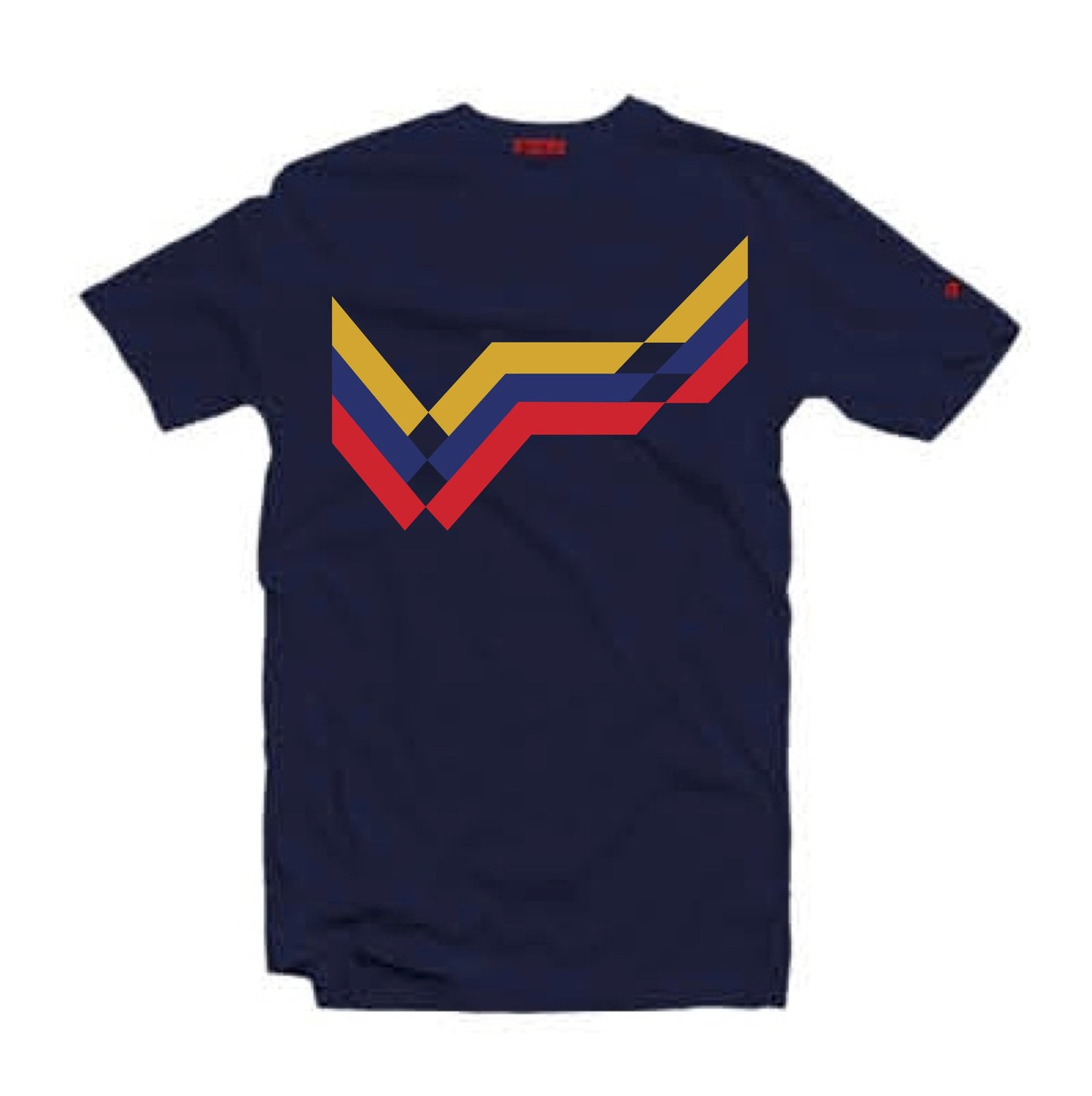 25463df1 '100% Colombian' T-Shirt Navy Blue — 80s Casuals