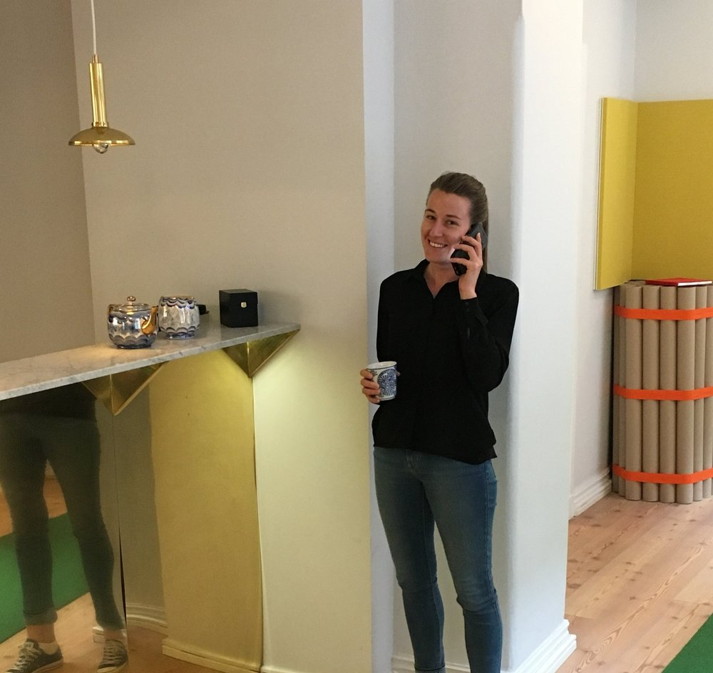 Elin Persson at our office in Stockholm