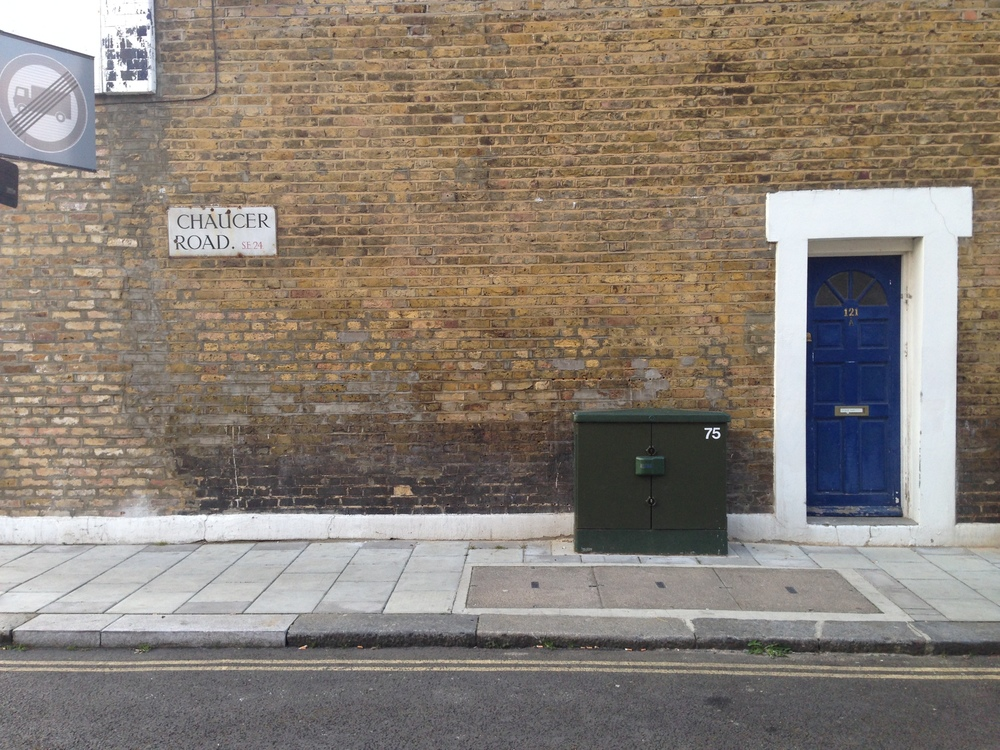 Image 01. Photo of 121 Railton Road SE24, located at the corner of Railton Road and Chaucer Road. Photo taken during walking tour of Brixton, March 2015.