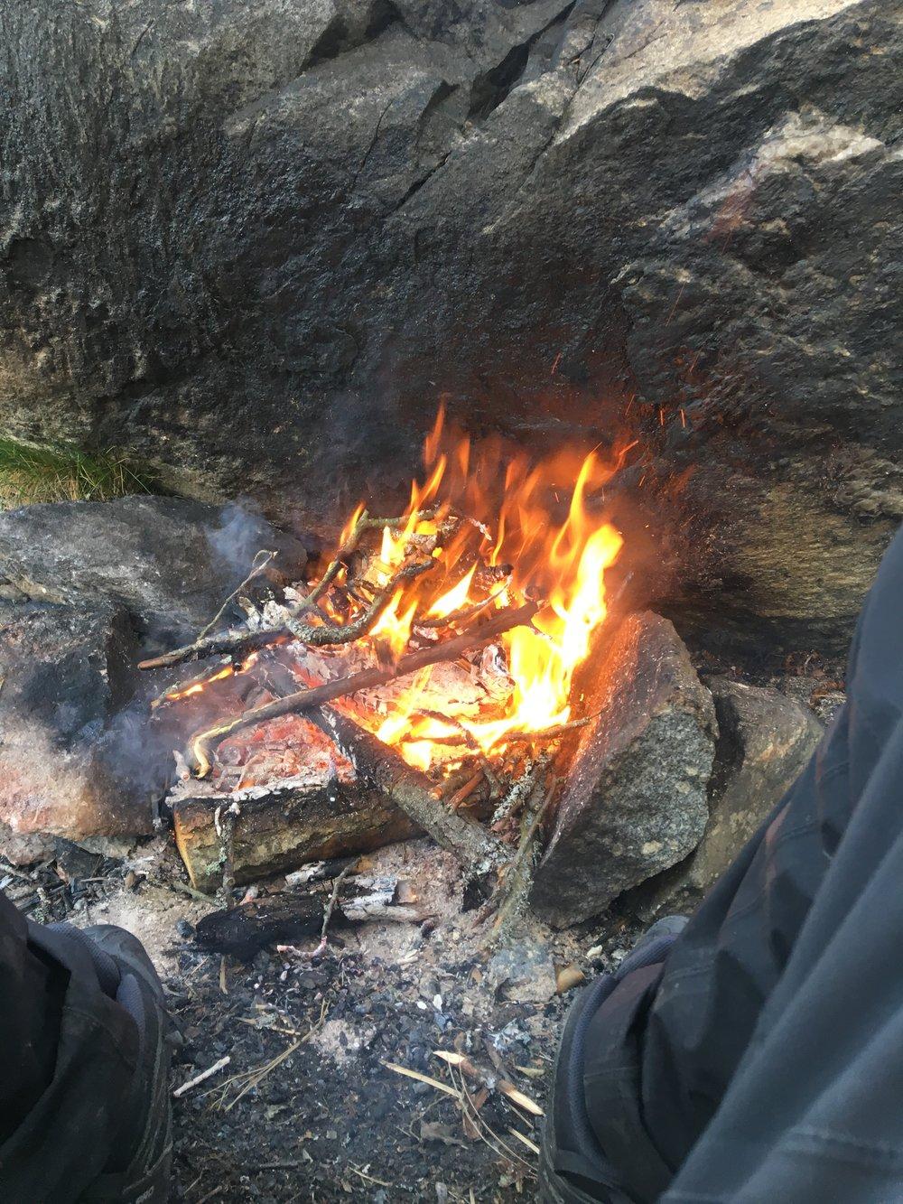 A nice little camp fire