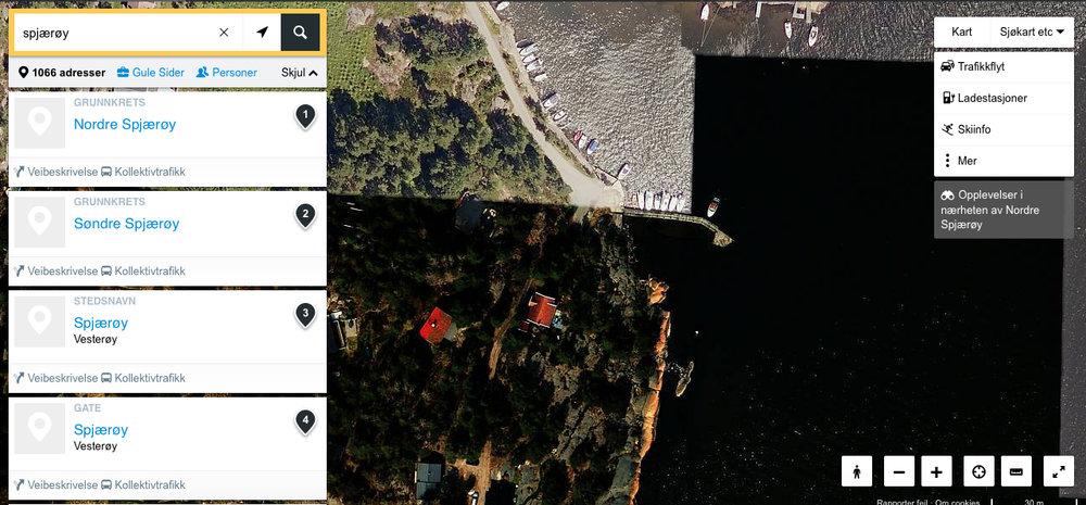 Screenshot of the satellite map