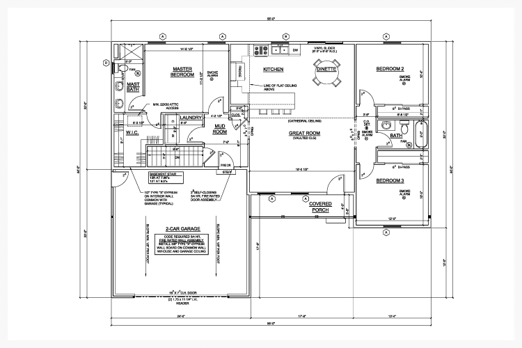 Kitchen Square Footage our floorplans — foothills builders