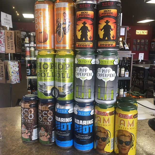 A quick trip to @nodabrewing for some year rounders and some seasonals!  #gordgeous #hotpistol #roaringriot #hopdropnroll #hopexperiment #jamsession #cocoloco #showyourcans @ncbeerguys