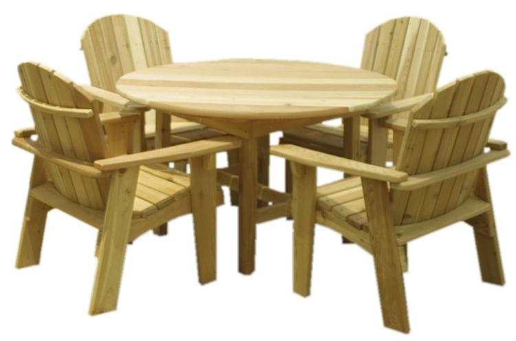 4 adirondack or garden chairs 1 round table 36 - Garden Chairs