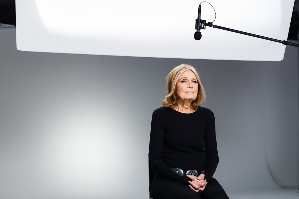 "SET STILLS FOR VICELAND'S ""WOMAN WITH GLORIA STEINEM"", NYC"