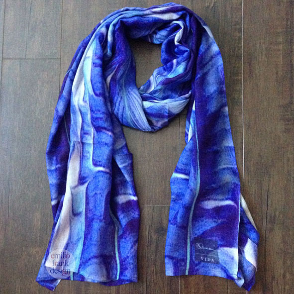 Cashmere Silk Scarf - hugs and kisses scarf by VIDA VIDA q97Cy
