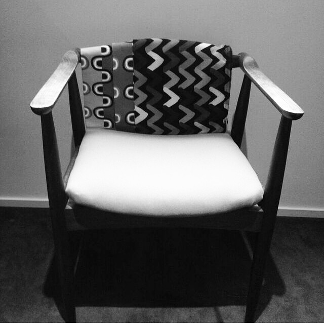 My Grandfather Emil's chair which now sits proudly in my studio.