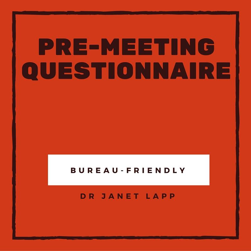 2016 PRE-MEET QUESTIONNAIRE