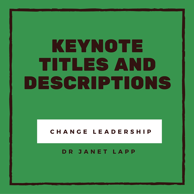 KEYNOTE TITLES