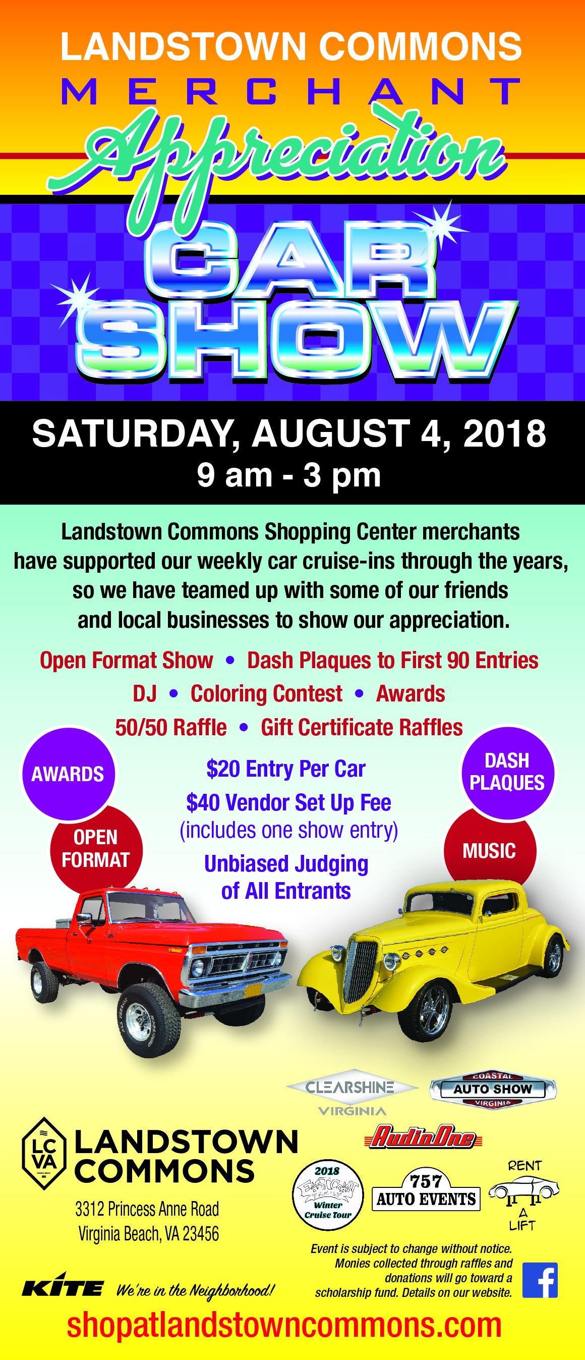 Merchant Appreciation Car Show Landstown Commons - Virginia beach cruise in car show
