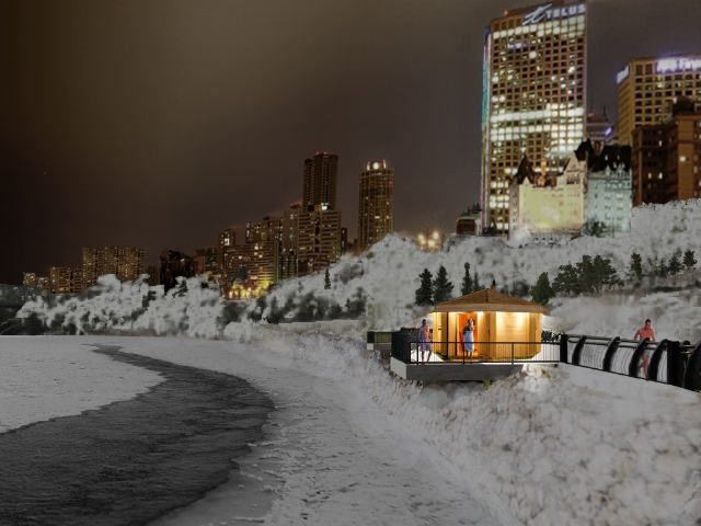 A rendering of what River Valley Saunas could look like. Courtesy of yegsauna.wordpress.com