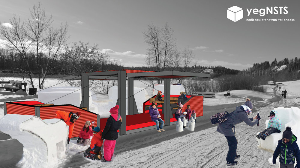 Renderings of possible pavilions. Courtesy of Matt Roper.