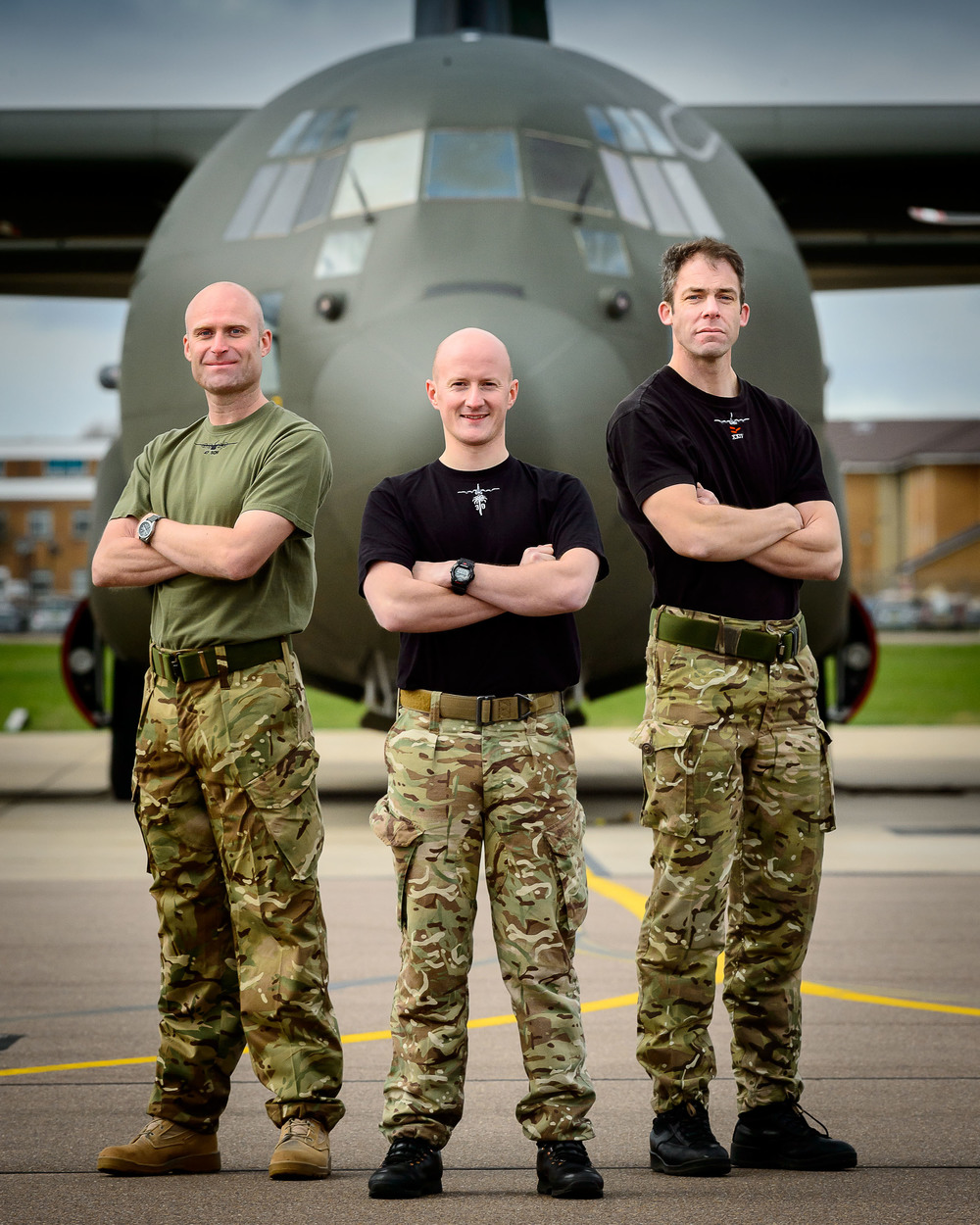 Flt Lt Graeme Hunt 47 Sqn, FLt Lt Tom Mountney 30 Sqn & Flt Lt R