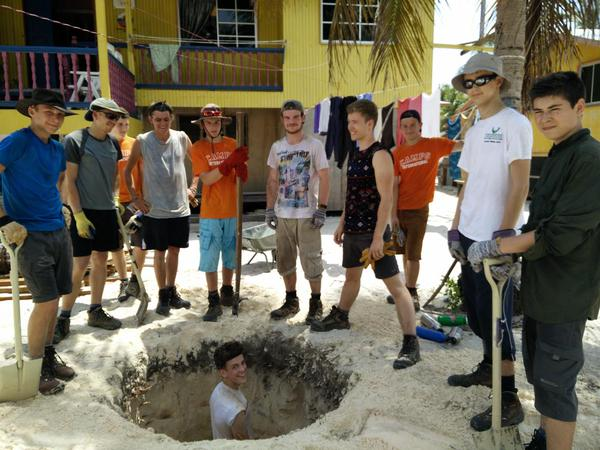 Camp Mantanani digging a 7ft hole for septic tank