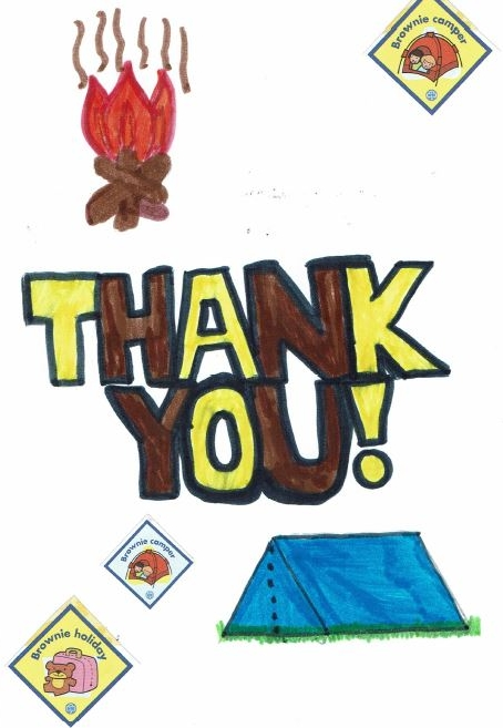 1st Longham Brownies tents thank you.JPG