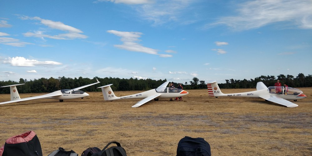 Gliders ready to launch