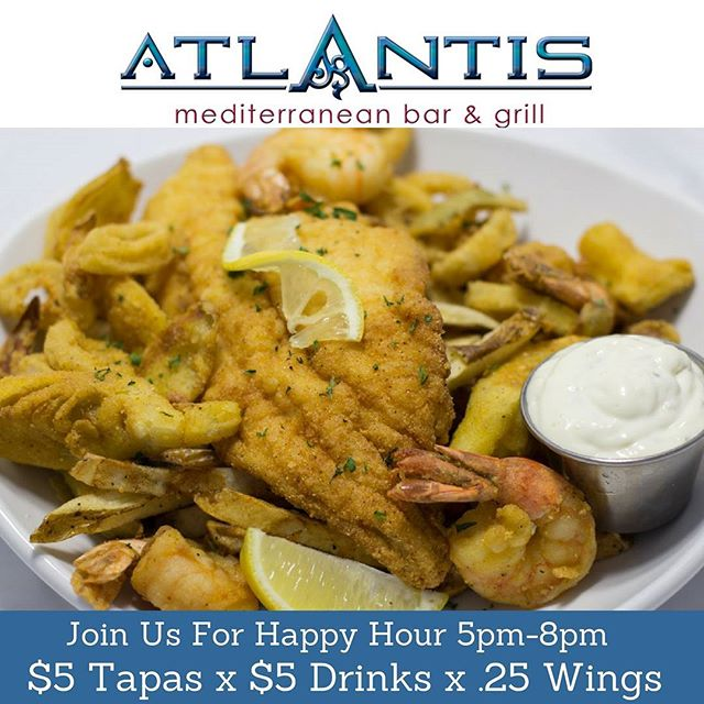 Having a long day at the office? Stop by @AtlantisAtlRestaurant_ to unwind & take advantage of our #HappyHour drink specials and our awesome #Tapas specials🍴 we're open at 4pm happy hour is from.5-8pm see you at the bar 🍸#AtlantisATL #Atlanta #Buckhead #AtlantaFoodie #MainDish #Seafood #prettyPlates #food #MidtownLounge #BuckheadLounge #EatLocal #GrubHub #Scoutmob #AfterWork #Hookah #FullKitchen #SipEatMix #SmallBusinessAtlanta #Eat24 #DrinkUp #Monday