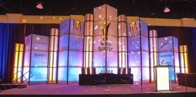 The Magnificent Module rental stage set by You Want What? Productions INC