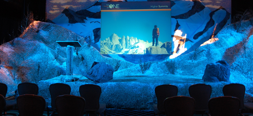 The Summit rental stage set by You Want What? Productions INC