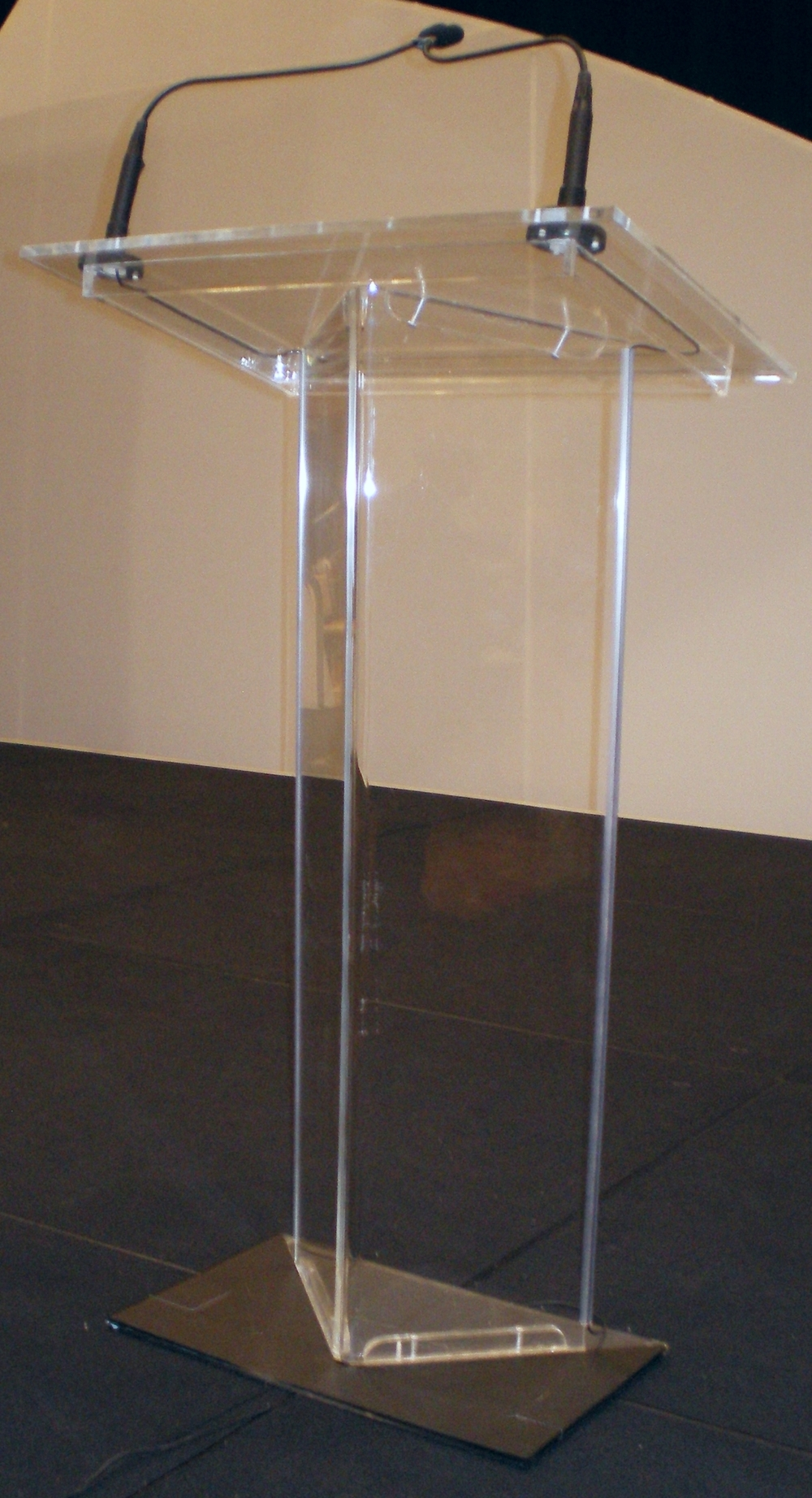 The Manhattan rental acrylic podium by You Want What? Productions INC