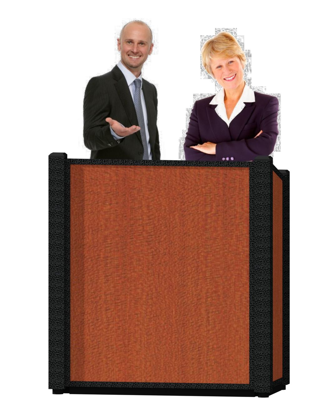 The Chameleon rental podium - lectern by You Want What? Productions INC