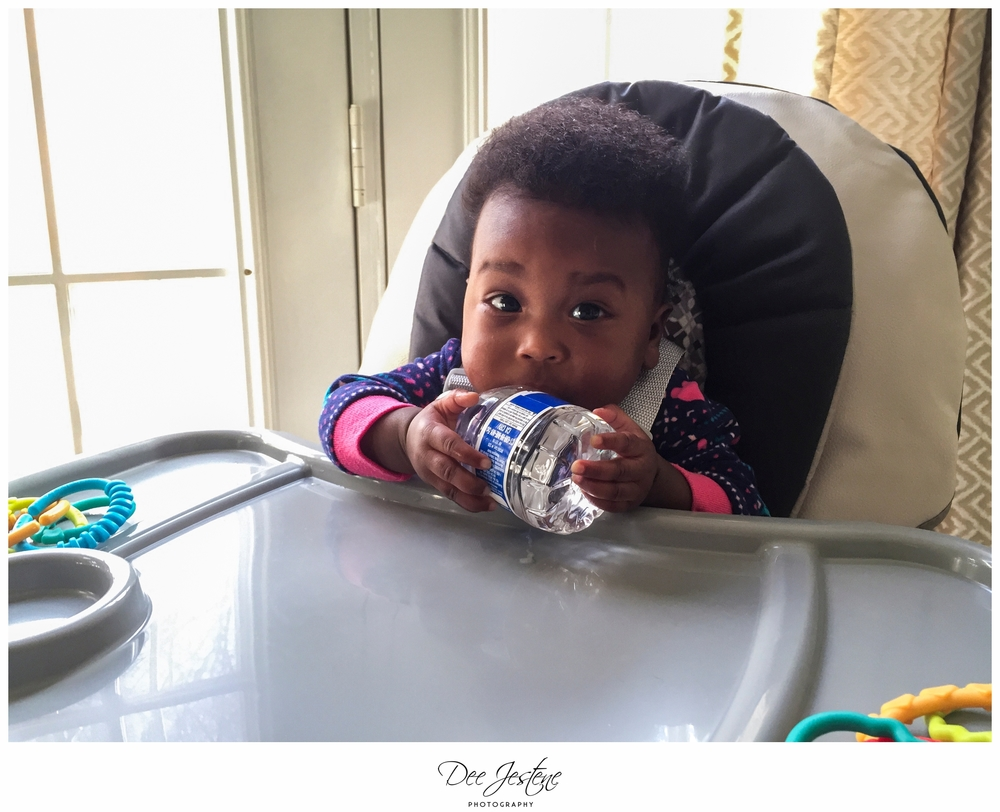 Baby with waterbottle