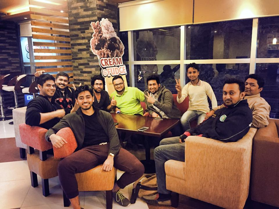 Fahim with the HackHouse Dhaka team in Bangladesh
