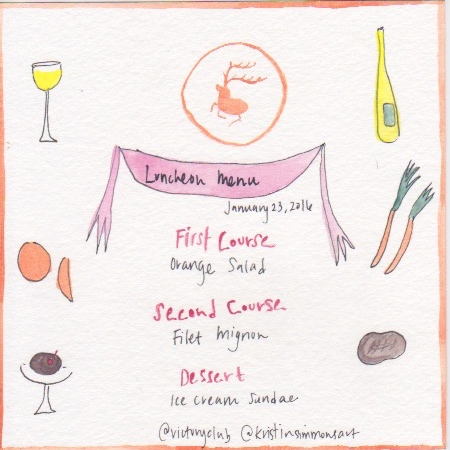 A sample menu designed by Stephanie