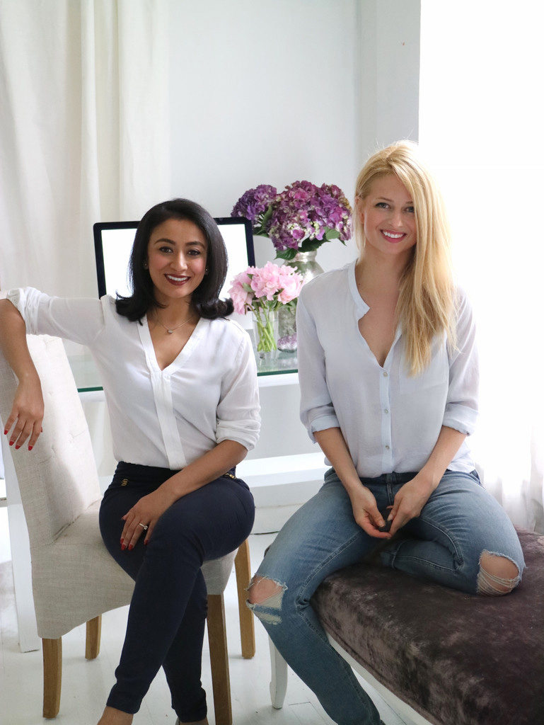 Founders, Gayatri on left, Sarah on right