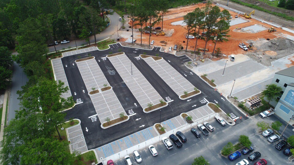 Springhill Medical Center - Delaney Employee Parking Lot with Pervious Pavers