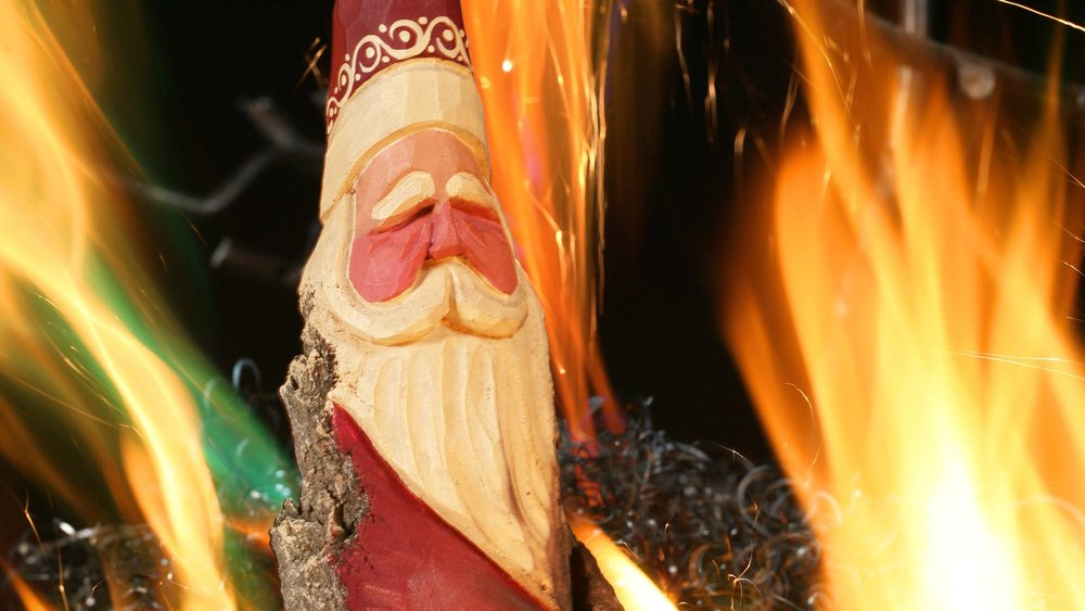 Fires will be blazing in the Crystal Forge and Greg McDonald will have carved wood Santas available at the upcoming open house at Hot Shops Art Center.