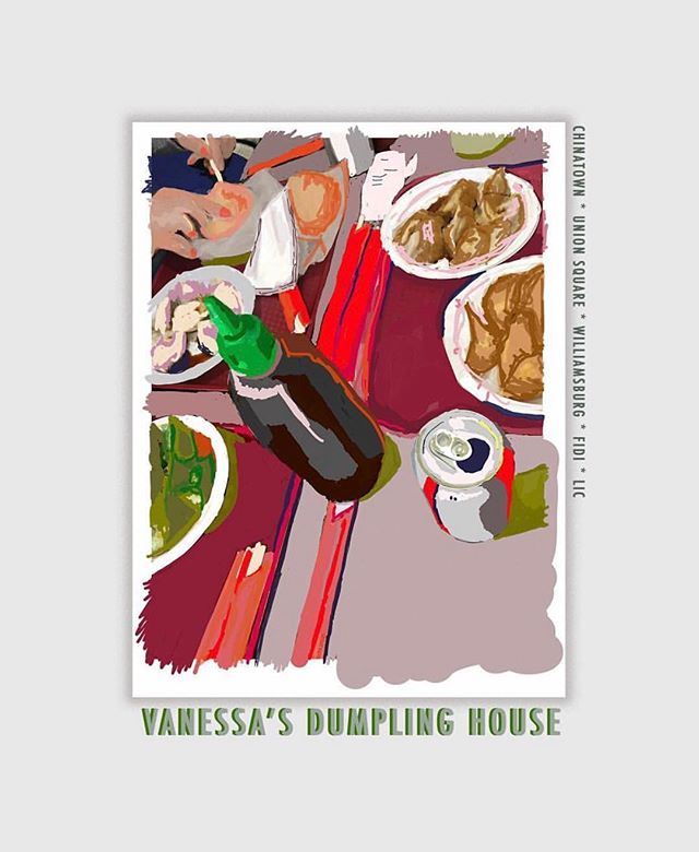 🥟🥟🥟 heaven at @vanessasdumplinghouse. Add it to your #stringhitlist. 📸: @ellement.illustrations