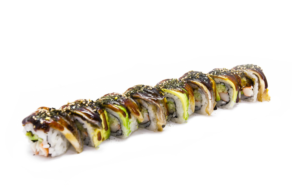 <p>Dragon<a href=http://www.yamatocatering.com/dragon-roll-nutritional-info>Nutritional Info →</a></p>