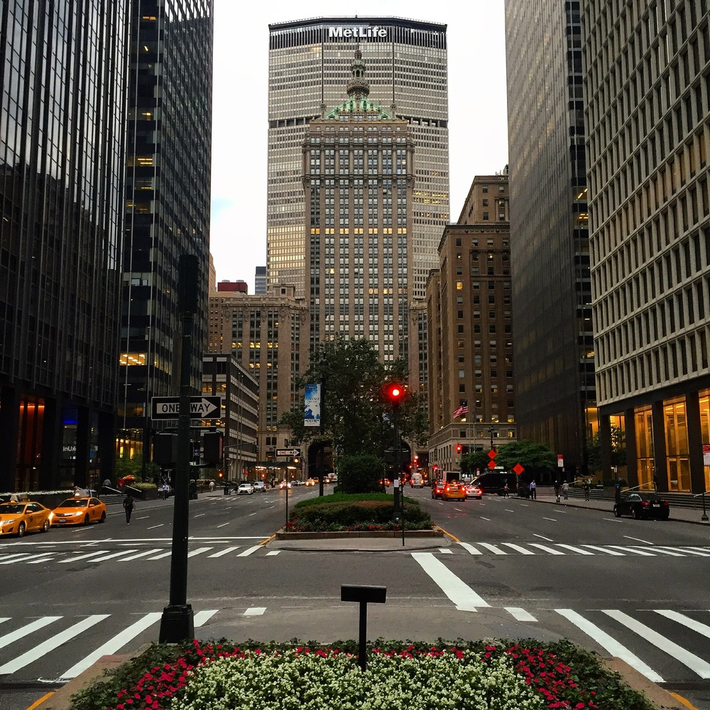 The amazing views from outside the Waldorf Astoria NYC.